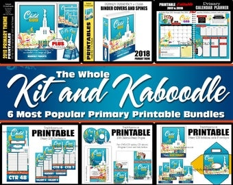Primary 2018 I am a Child of God HUGE bundle-  Six popular bundles in one. Editable PDF's, posters, binder covers, planner, class doorhanger