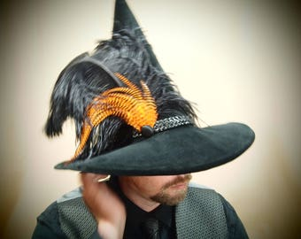 """Wizard Hat """"Hallows Eve"""" One of a Kind"""