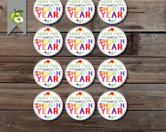 smooth year, hope you have a, smoothie, hand cream tag, back to school tag, teacher, staff gifts, teacher tag, student, New teacher, class