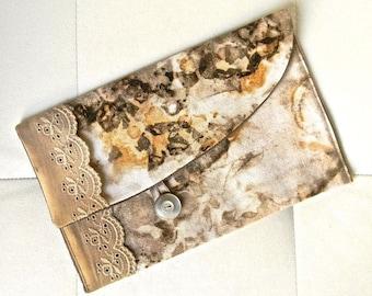 04-pocket flap, vegetable dye on cotton lace.