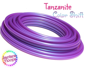 "3/4"" UV Tanzanite Color Shifting Polypro Hula Hoop color shift morph"