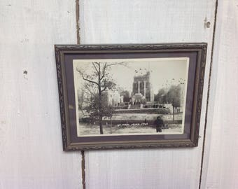 Vintage 1940s photo of St. Paul, MN Ice Castle - Original