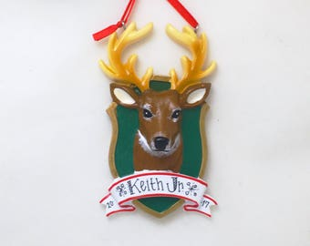 Buck Hunting Christmas Ornament / Personalized Christmas Ornament / Hunting Ornament / Hunting / Buck Hunter / Hunting Trophy