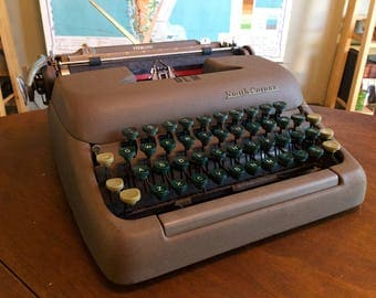 Vintage 1960s Smith Corona Sterling Typewriter - Working Well with Brand-New Ribbon