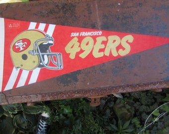 Vintage 1980's San Francisco 49ers Football Pennant NFL Officially Licensed Product