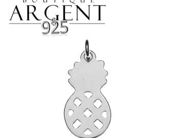 Pineapple shape 19.7 X 9.2 mm 925 sterling silver charm