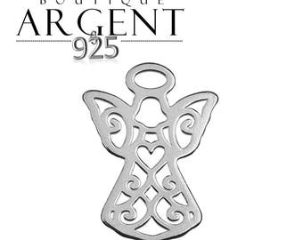 Charm openwork 925 sterling silver 15.2 mm Angel Cupid charm