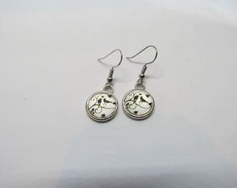 Dainty Lovebirds Glass Earrings