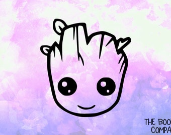 Groot Head Vinyl Decal <More Colors Available> <DP008>