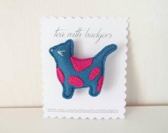 Cat Felt Brooch - Wool Blend Felt Jewellery