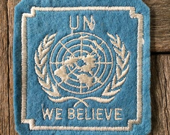 United Nations We Believe Patch
