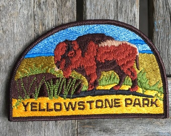 Yellowstone National Park Vintage Travel Patch