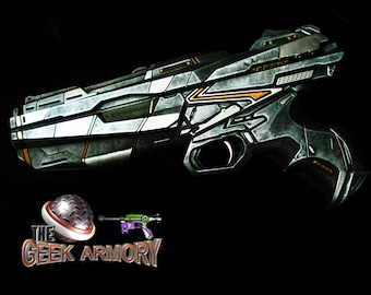 Ready to Ship***Warrior Havoc Blaster - Destiny Halo Borderlands 2 Custom painted artwork by Nelson