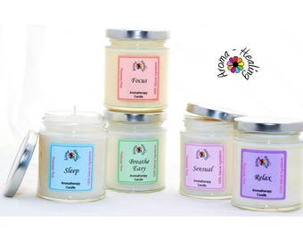 Soy Wax Jar candles | Sleep | Breathe Easy | Relax | Sensual | Focus | Natural Soy Candle | Home Fragrance Scented Candle | Best Jar candles