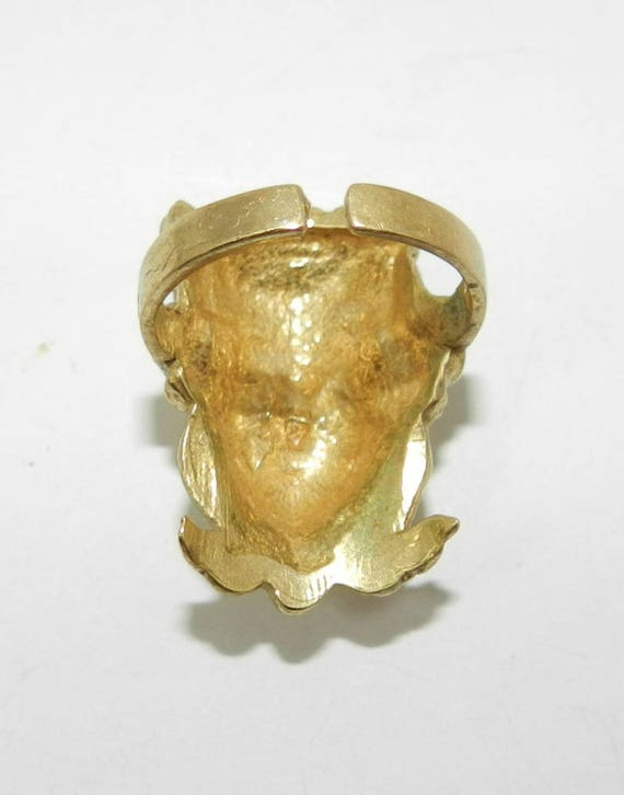 Antique ART NOUVEAU ring, size 7 1/2, gold filled ring, handmade jewelry, 1910s cocktail ring, vintage ring, Jewelry jewellery, gift
