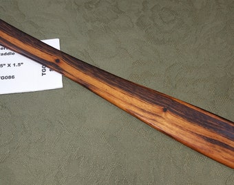 Tigerwood Goncalo Alves Miss Rose Paddles Exotic Hardwood Spatula Ruler Discipline Stick TG086