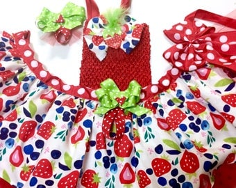 Sweet Strawberry Tutu-perfect for: Pageant wear, outfit of choice tutu, festival, photo shoot, birthday tutu,ooc