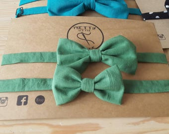 Green bowtie,   Father and Son bow tie set, Father's Day Gift, Matching bowtie, Toddler Bow Tie, Groomsmen Bowtie, Ringbearer Bowtie