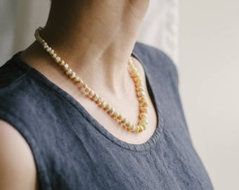 Butterscotch amber necklace / Natural amber necklace