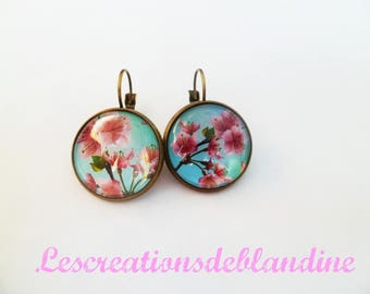 "Bronze earrings ""summer flowers"""