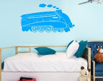 Mallard Steam Engine Wall Sticker A87