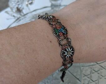 Painted Flower Bracelet, Lightweight