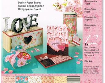 Design paper block, 12 sheets, A4 (1643)