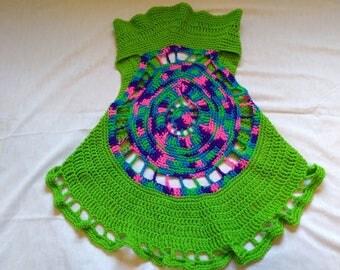 Crochet cartigan vest