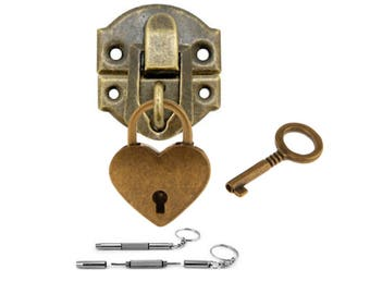 Get 1 Hasp with screws and heart lock