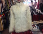 70's White Rabbit Fur...
