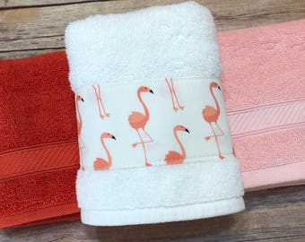 3 COLORS, Flamingo, Flamingo Bathroom, Flamingo Towel, Bath Towel, Hand  Towels