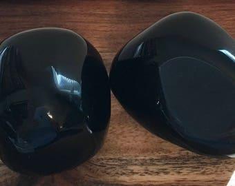 Black Obsidian Power Stone, Large Palm Stone, Spiritual Stone, Healing Stone, Healing Crystal, Chakra
