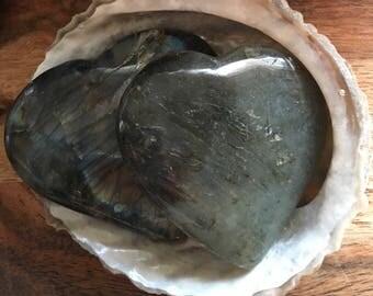 Labradorite  Gemstone Heart, Healing Stones, Healing Crystal, Chakra Stones, Spiritual Stone, Gemstone Heart