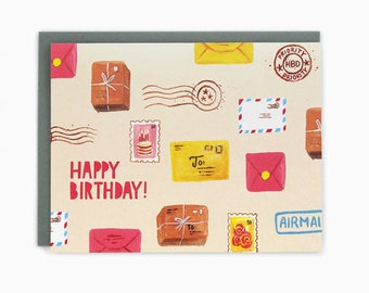 Happy Birthday Snail Mail - greeting card