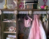 112th Dollhouse Shop Display unit with hidden lighting for shopdressingbed rooms  22 Items !!! THREE are wearable