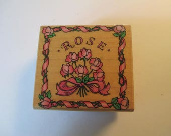 "Rubber Stamp  "" Rose""  used good condition"