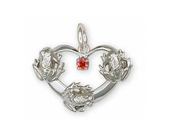 Frog Charm Jewelry Sterling Silver Handmade Frog Charm FG20-SC