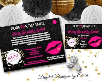 Pure Romance Party Invitation Template Best Custom Invitation