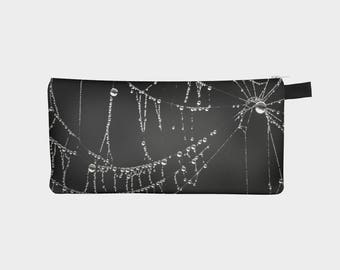 Black Pencil Case, Cob Web Pouch, Pencil Pouch, Make Up Bag, Gothic Pouch, Small Bag, Zipper Pouch, pencil bag, Cosmetic Bag, Small Pouch