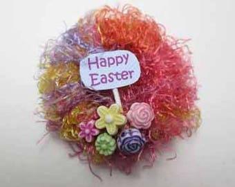 Easter Wreath - dollhouse miniature 1:12 scale