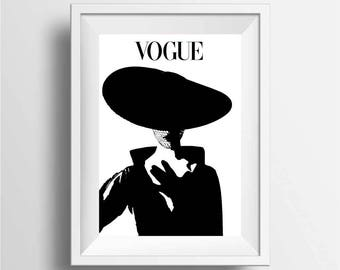 Vogue poster print, vogue wall art decor, vogue art magazines