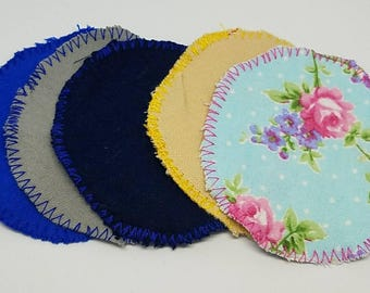 SALE  24 MIxed Flannel cloth Facial rounds