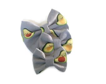Avocado Bow | Fabric Bow | Handmade Hair Bow | Hair Clip | Headband