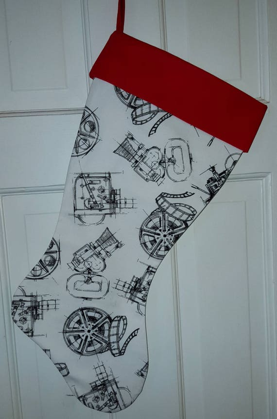 Movie Reels Christmas Stocking