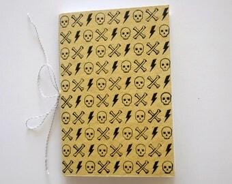 Skull head Journal handprinted Notebook
