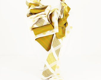Tie Couture: Yellow Polka Passion #122