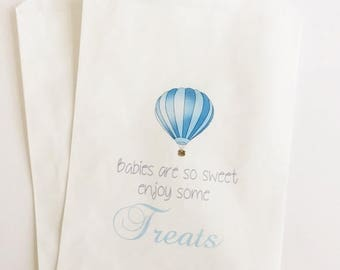 ON SALE Baby Shower Favor Bag, Candy Bag, Candy Buffet Bag, Hot Air Balloon Favors