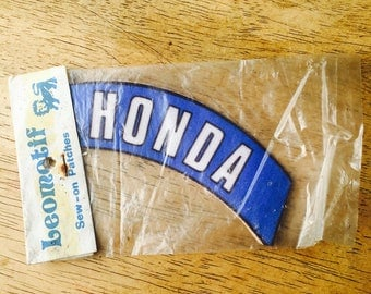 1970s Honda sew on clothing patch