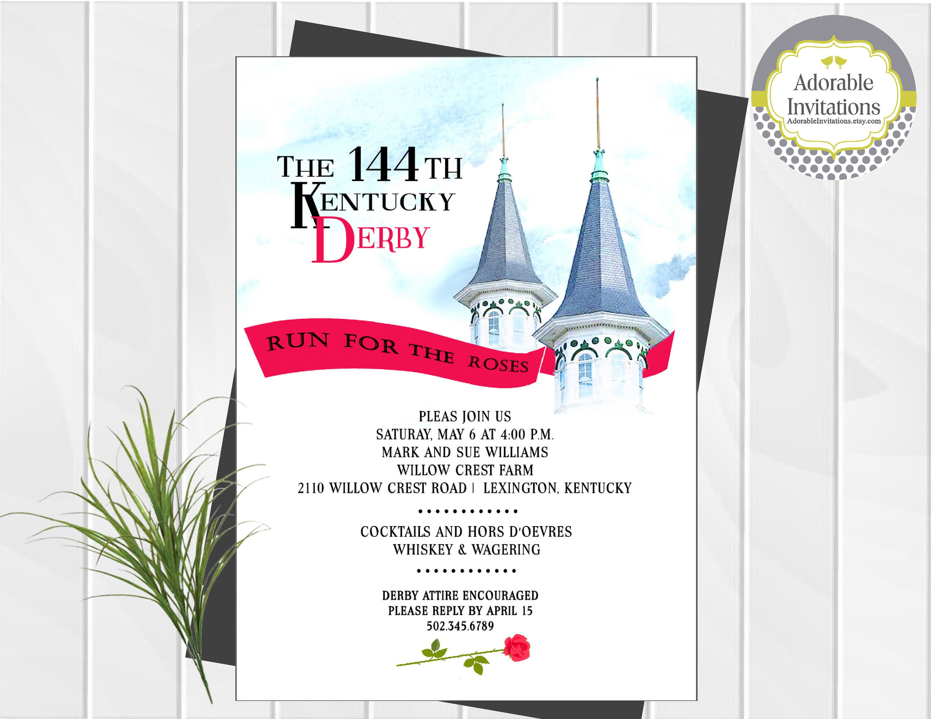 Kentucky Derby Party Invitations Free – Derby Party Invitations