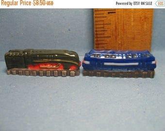 SALE LOCOMOTIVES Train Engines locomotive engine trains  - French Feve Feves Porcelain Doll House Miniatures EE70